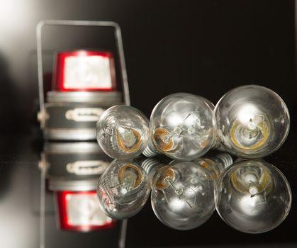 a lot of light bulb on black background, lantern
