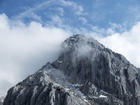 totenkirchl mountain in tyrol austria