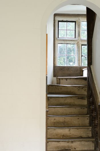 Vintage staircase leading upwards
