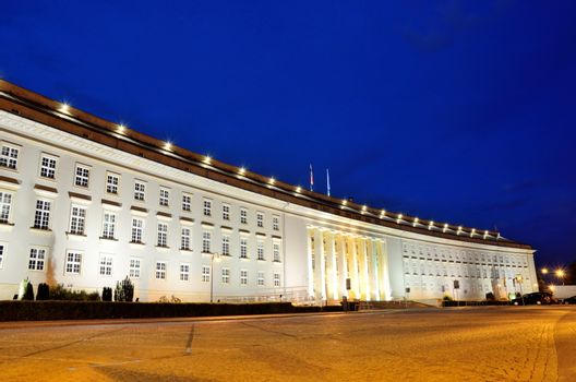 Provincial office by night