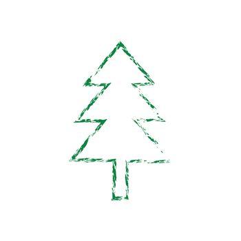 Christmas tree grunge silhouette
