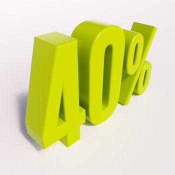 Percentage sign, 40 percent