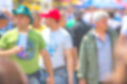 General public concept, blur people
