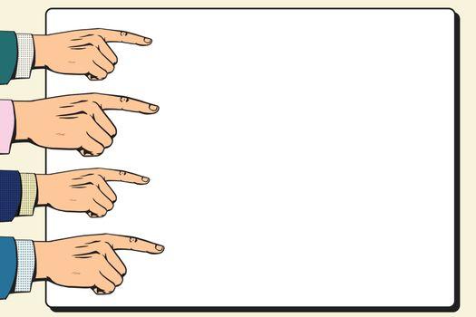 Hands index finger pointer poster
