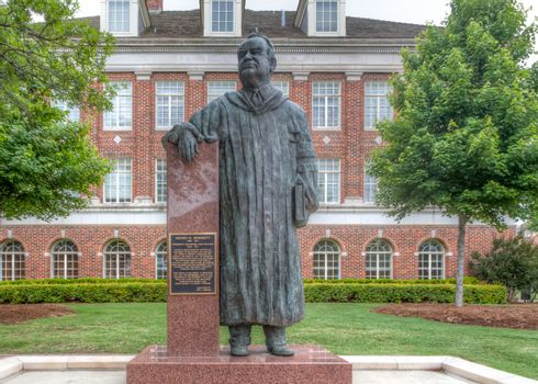 STILLWATER, OK/USA - MAY 20, 2016: Henry G. Bennett Statue on the campus of Oklahoma State University.