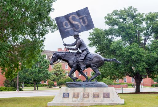 STILLWATER, OK/USA - MAY 20, 2016: The OSU Spirt Rider on the campus of Oklahoma State University.