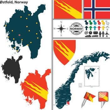 Map of Ostfold, Norway
