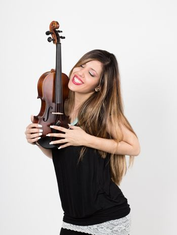 woman in love with fiddle