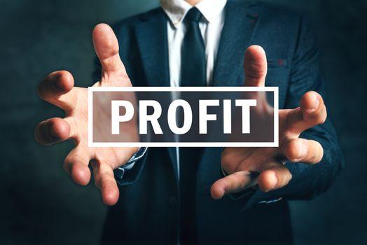 Concept of gaining business profit