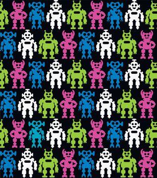 Robots. Seamless background