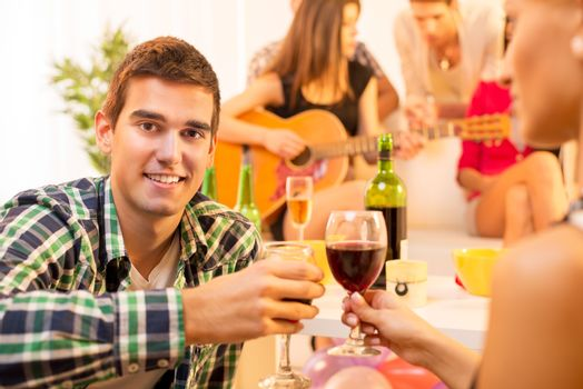 Enjoying In Good Company With Good Wine