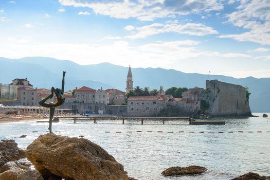Morning in Old Town of Budva. Montenegro, Balkans, Europe.