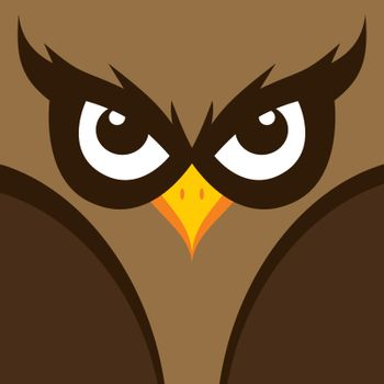 spooky owl illustration theme