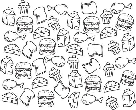 food and drink theme art vector graphic art design illustration