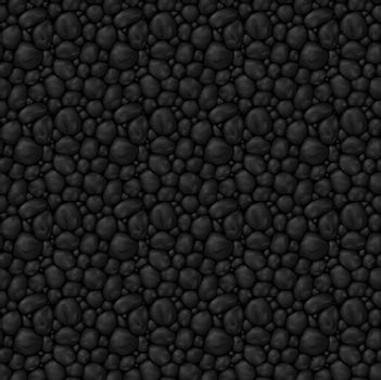 Texture seamless  black stone for game interface or other design idea