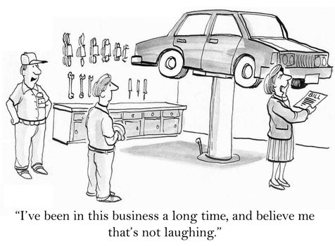 """""""I've been in this business a long time, and believe me that's not laughing."""""""