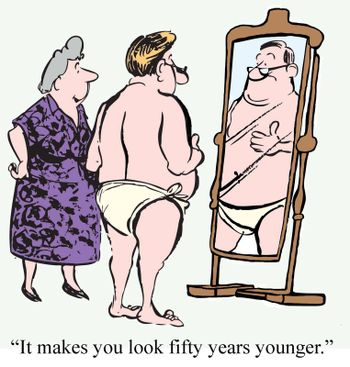 """""""It makes you look fifty years younger."""""""