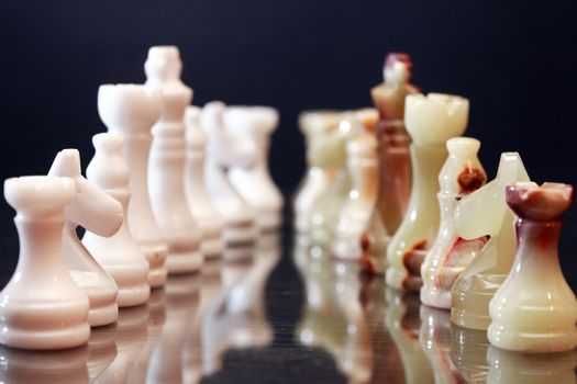 Chess Pieces Confrontation