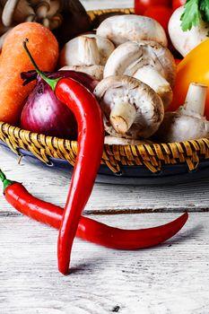 Seasonal summer vegetables