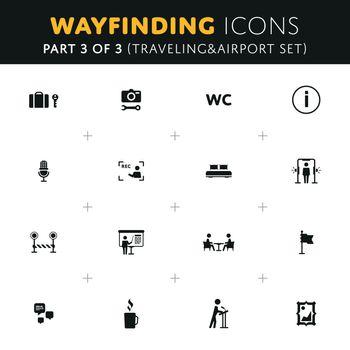 Vector Wayfinding Icons Set