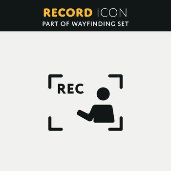 Vector video Rec Icon
