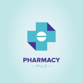 Medic cross logo template.