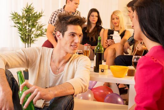 Socializing At House Party