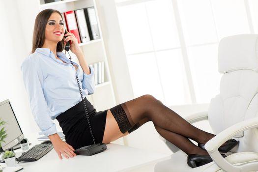 Sexy Businesswoman Phoning