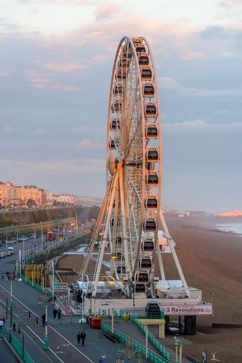The Brighton Wheel and seafront