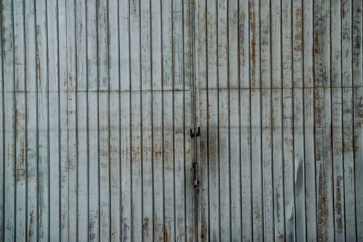 Old industrial warehouse locked gate