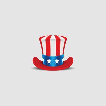 Uncle Sam hat on white background.