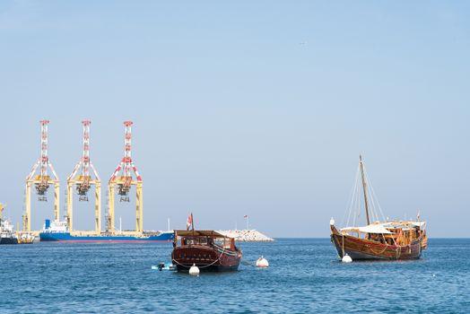 Classic vessels in Muscat, Oman