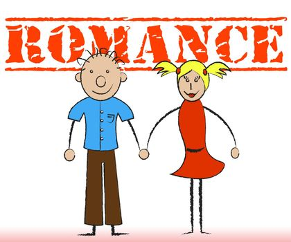 Romance Couple Indicating Loving Passion And Romantic