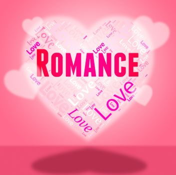 Romance Heart Representing In Love And Passion