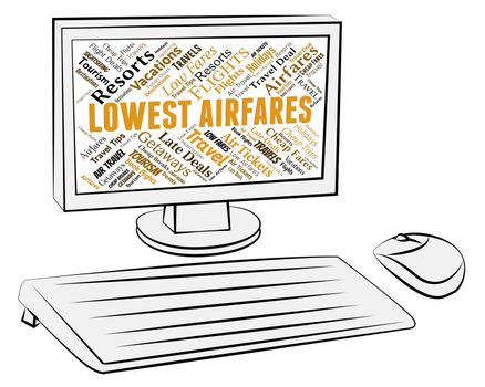 Lowest Airfares Shows Current Price And Aeroplane