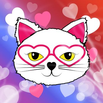 Cat With Hearts Meaning Valentines Day And Pets