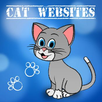 Cat Websites Showing Puss Pets And Internet