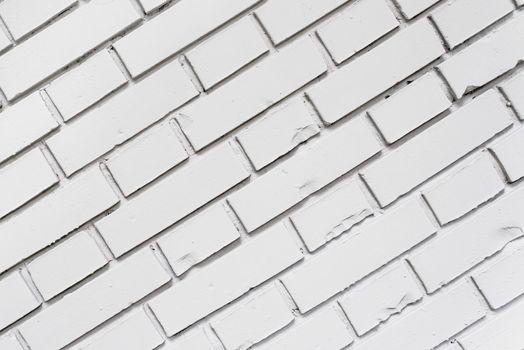 Diagonal white brick wall texture