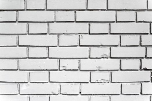 White exterior brick wall texture, urban background