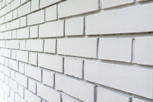 White brick wall perspective