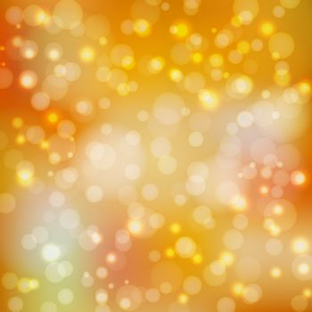 Abstract background in yellow tones. To design your projects. Bokeh wallpaper. Vector illustration.
