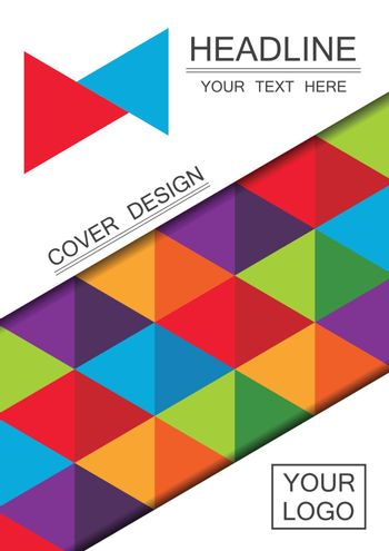 abstract color stripe cover