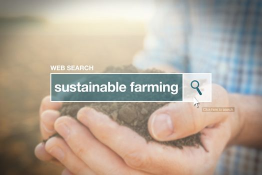 Sustainable farming web search bar glossary term
