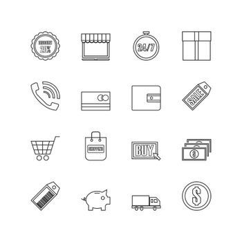 online shopping outline icon