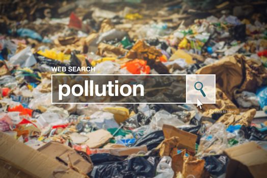 Pollution in internet browser search box