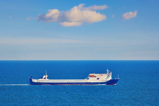 Ro-ro Ship in the Sea