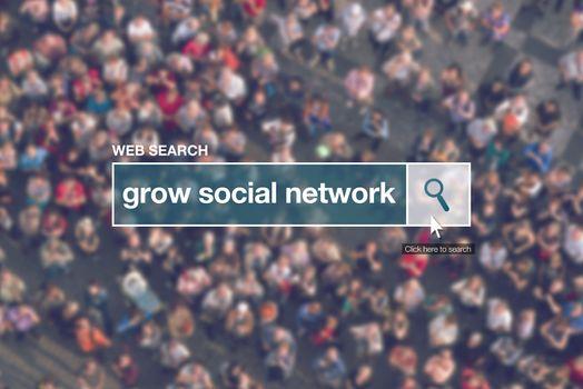 Grow social network - web search bar glossary term