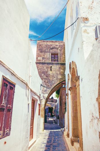 Lindos antique street. Rhodes,Greece
