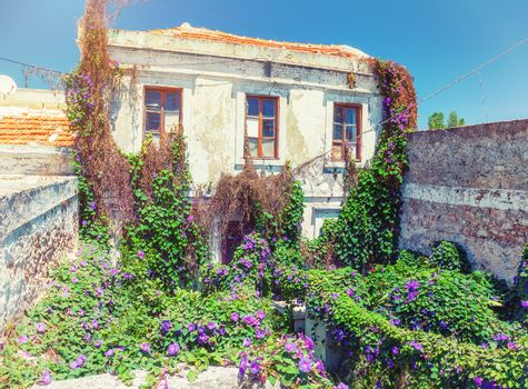 antique housein the colorful  village Koskinou on the island of Rhodes, Greece