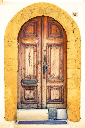 Photo of the old town  street door, Rhodes island, Greece